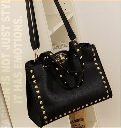Women's Fashion Rivet Handbag - TrendSettingFashions