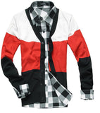Men's V-Neck Multi Colored Cardigan - TrendSettingFashions