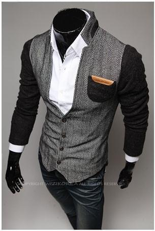 Men's Fashion Cardigan With High Collar