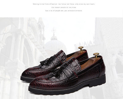 Men's Crocodile Brogue Style Loafers - TrendSettingFashions