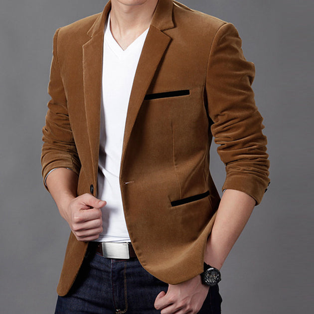 Men's Classic Casual Blazer Up To 3XL - TrendSettingFashions