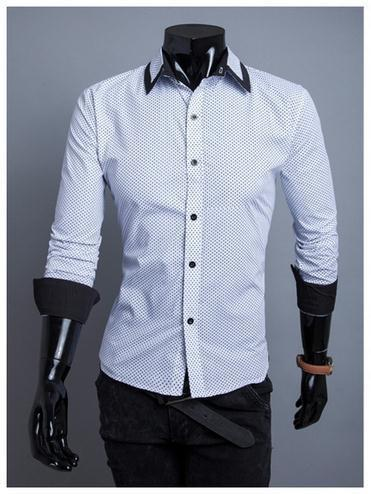 Men's 2 Tone Fashion Dress Shirt - TrendSettingFashions   - 1