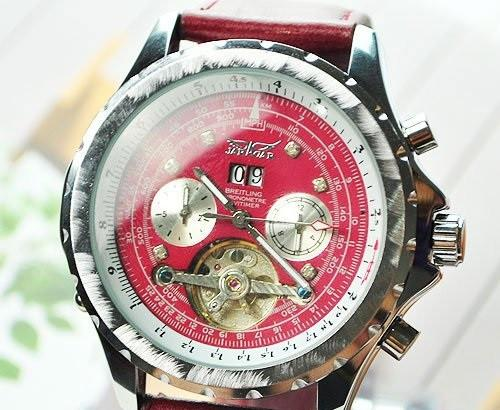 Men's Luxury Red Dial Watch - TrendSettingFashions