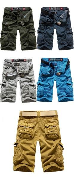 Men's Cargo Shorts with Side Zippers - TrendSettingFashions   - 1