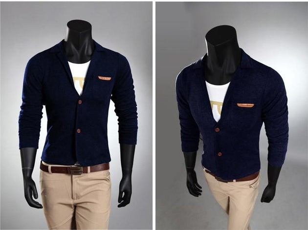 Men's Pocket Decoration Cardigan Fleece - TrendSettingFashions   - 3