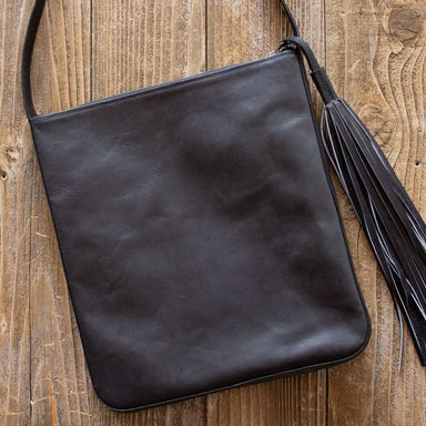 Black Leather Boho Crossbody