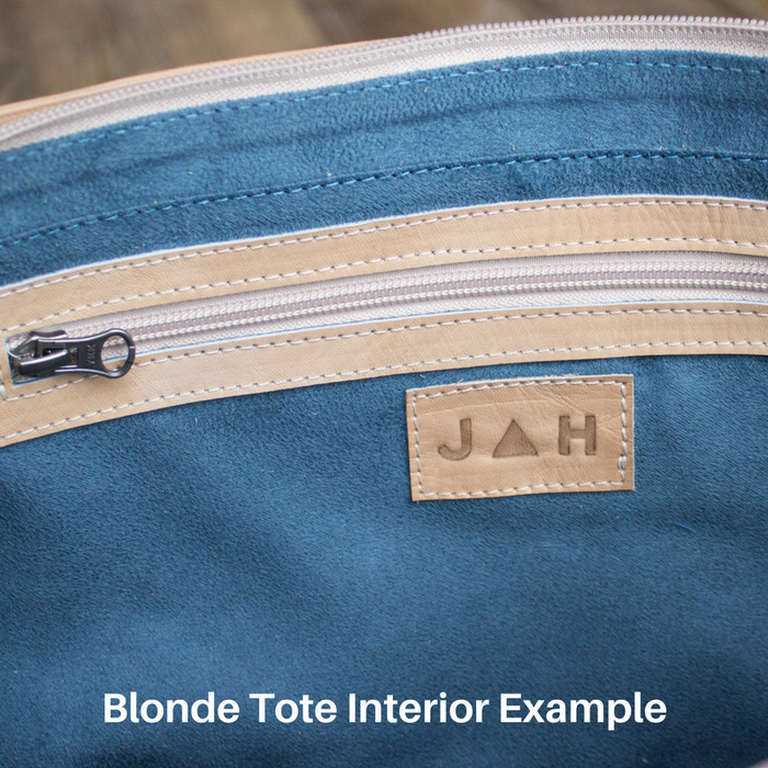Blonde Leather Tote