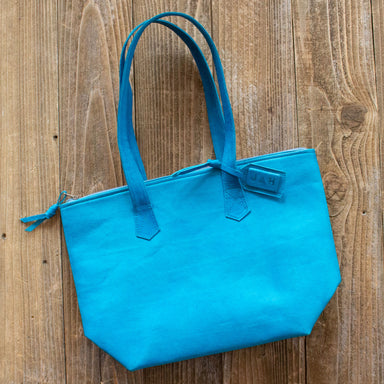 Teal Leather Tote