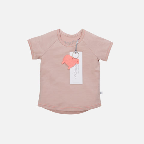 Supersoft Merino Raglan T-Shirt - Misty Rose - 2-11y