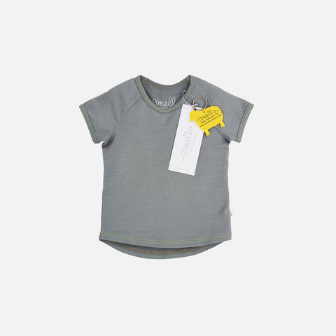 Supersoft Merino Raglan T-Shirt - London Fog - 2-11y