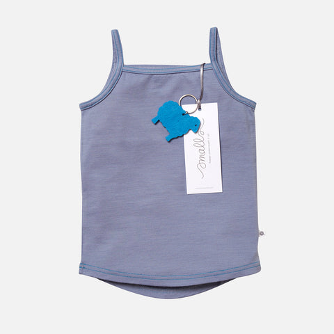 Supersoft Merino Cami - Steel Blue - 2-14y