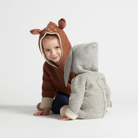 Alpaca Double Layer Bambie Hoodie - 6m-2y