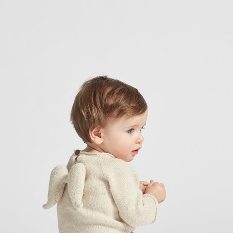 Alpaca Angel Sweater - White - 0-24m