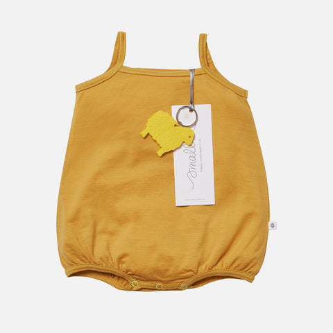Supersoft Merino Baby Cami Body - Mustard - 0m-2y