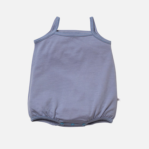 Supersoft Merino Baby Cami Body - Steel - 0m-2y