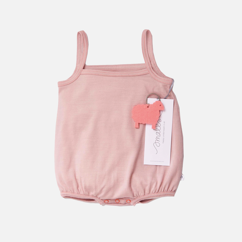 Supersoft Merino Baby Cami Body - Misty Rose - 0m-2y