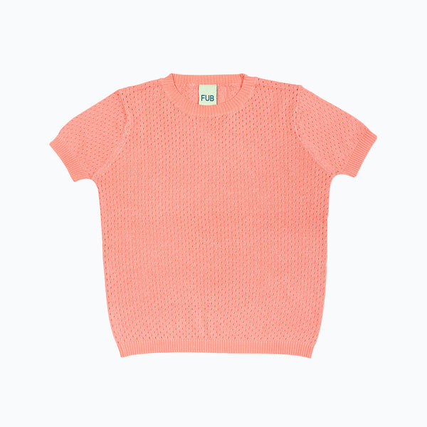 Organic Cotton Lace Tee - Sorbet - 4-6y