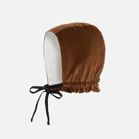 Cotton Baby Rose's Velvet Bonnet - Copper - 1-2y