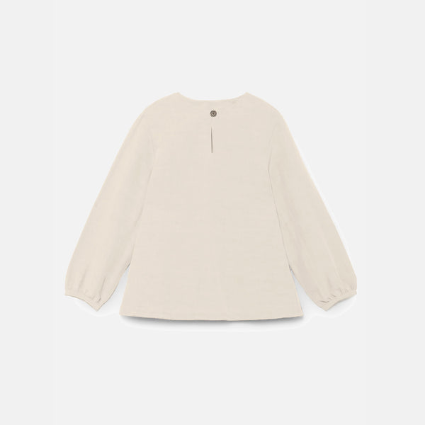 Lucia's Oversized Blouse - Ivory - 2-8y