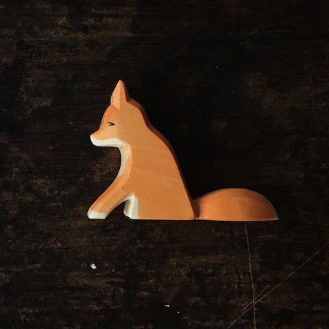 Handcrafted sitting fox