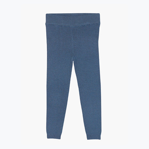 Extra Fine Kids Merino Wool Leggings - Denim - 4-6y