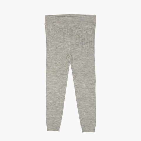 Extra Fine Kids Merino Wool Leggings - Light grey - 4-8y