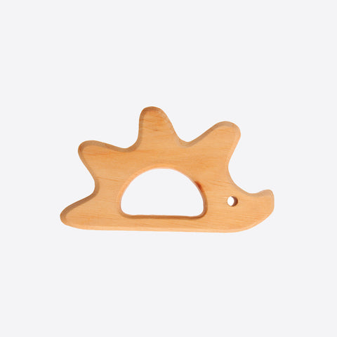 Wood hedgehog grasper and teether