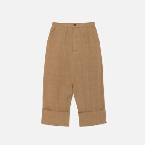 Linen Noahn's Pirate Sack Trousers - Muddy Brown - 6-8y