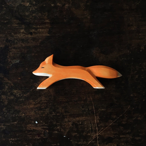 Handcrafted running fox