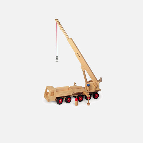Very Large Wooden Mobile Crane