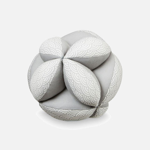 Organic Baby Grab Ball - Grey Wave