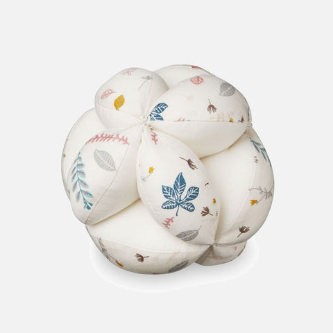 Organic Baby Grab Ball - Pressed Leaves