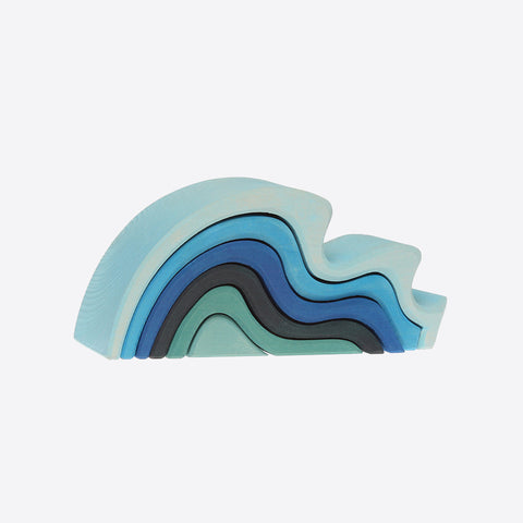 Wooden water waves stacking toy