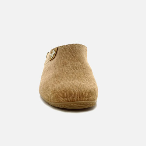 Adult Cotton Canvas Slippers - Sand - 37-42