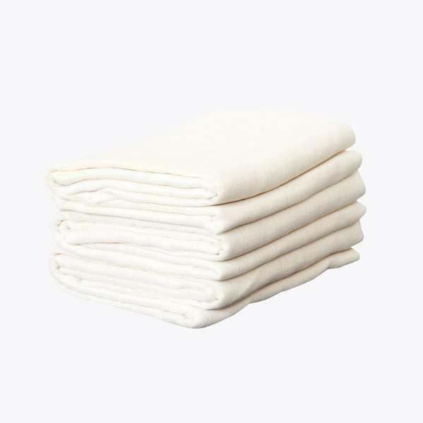 Organic Cotton Muslins - Natural - Set of 3