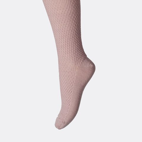 Wool capsule tights - Rose - 3m-8y