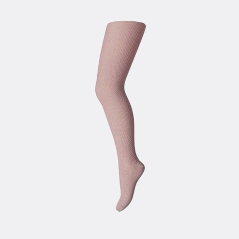 Wool Capsule Tights - Rose