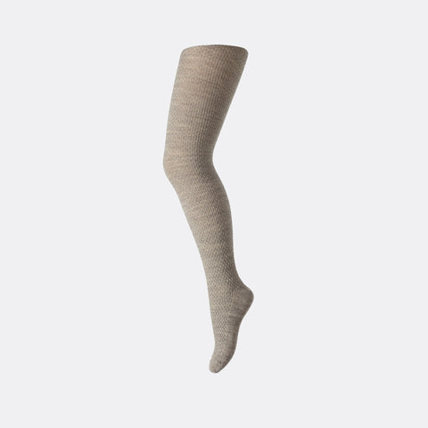 Wool capsule tights - Beige/Grey - 3m-8y