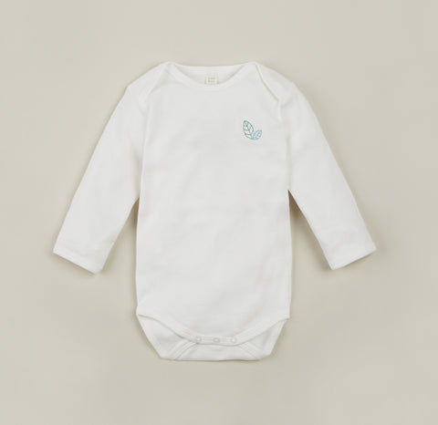 Organic Cotton Natural Long Sleeve Body 0-24m