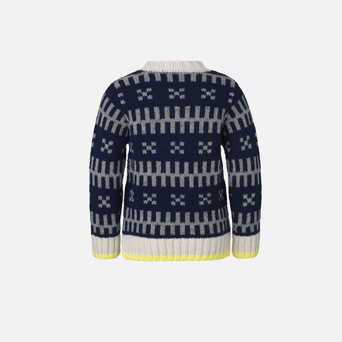 Iceland Keldino Wool Sweater - Navy - 8-14y