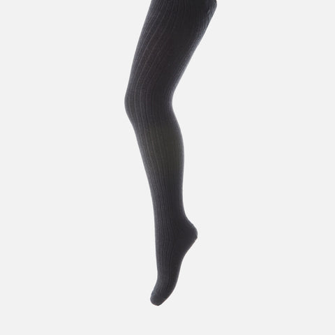 Wool rib tights - Dark Navy - 3m-5y