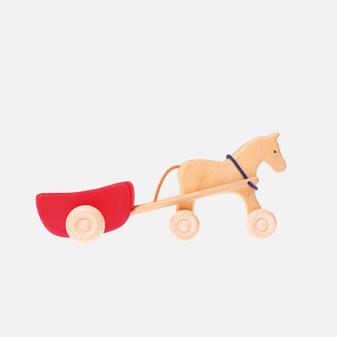 Wooden Toy Wagon - Red