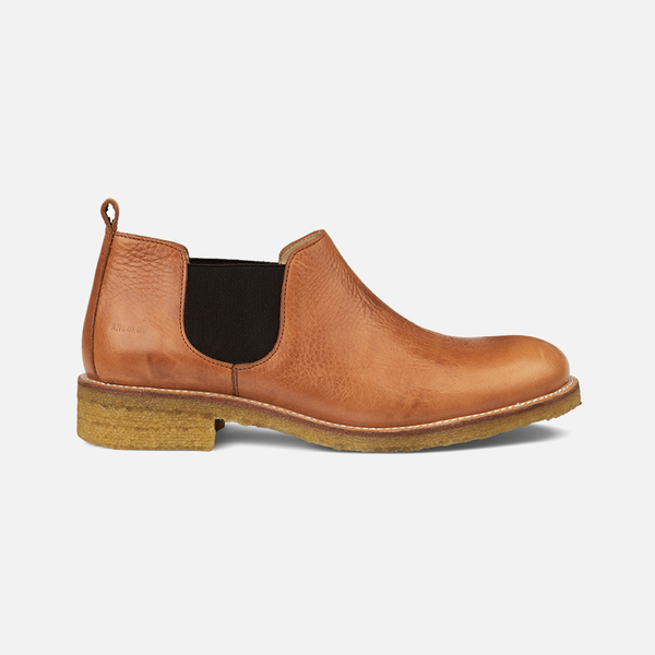 Women's Low Chelsea Boot - Cognac - 37-41 (UK 4.5-8)