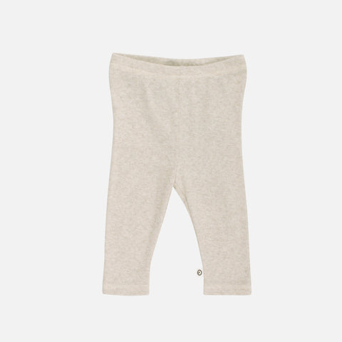 Organic Pointelle Cotton Baby Leggings - Beige - 0m-2y