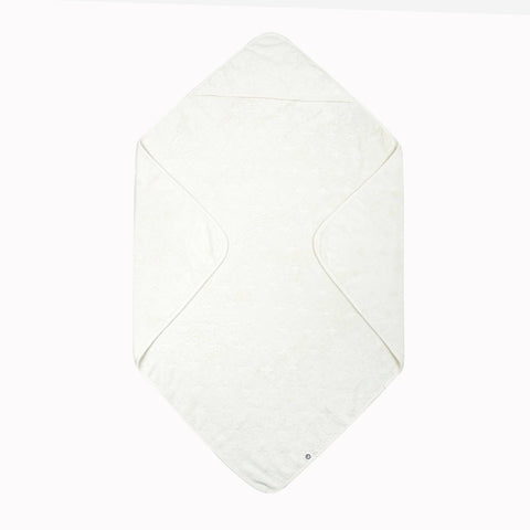 Organic Cotton Hooded Baby Towel - Ecru