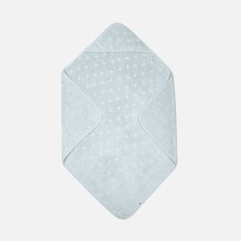 Organic Cotton Hooded Baby Towel - Mist