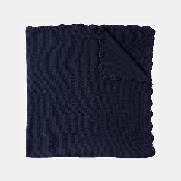 Organic Cotton Swaddle/Blanket - Navy