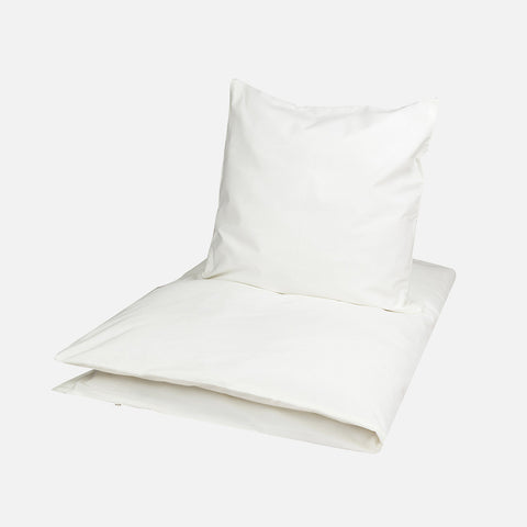 Organic Cotton Duvet & Cushion Cover - Ecru - Jr Size