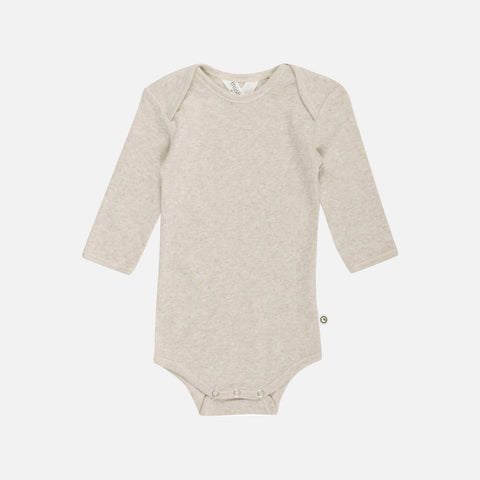 Organic Pointelle Cotton Body - Beige - 0m-2y