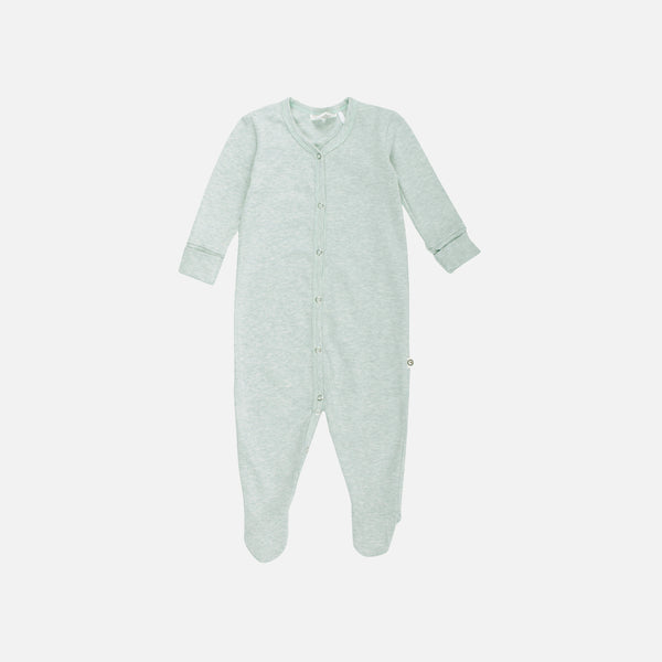 Organic Cotton Romper/Suit with Feet - Mist - 0-18m